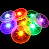 Wholesale led flying disk - Flashing Funny Flying LED Disk Light Up Frisbee Outdoor Multi Color Sports Toys