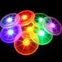 frisbee luz intermitente al por mayor-Intermitente Divertido volando el disco LED se ilumina Frisbee al aire libre Multi Color juguetes deportivos