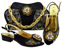 Wholesale bag straps for sale online - New Styles Women Evening Clutch Bags Hot sale Ladies Designer Matching Shoes and Bag set Italian shoes and handbag set for bridal