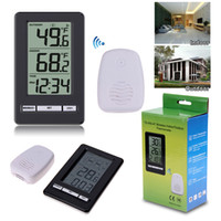 Wholesale weather station wireless sensors for sale - Group buy Digital Weather Station with Wireless Sensors Indoor Outdoor Thermometer Desktop Clock Electronic Temperature Meter