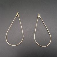 Wholesale coppers earring findings online - 50pcs mm Big Water Drops Shape Earring Pendant DIY Earring Finding