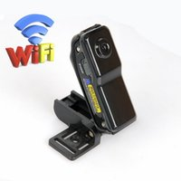 Wholesale wifi camera outdoor iphone online - Mini DV Wifi Camera Portable Mini Camera Video Recorder Security DVR for Iphone Android ipad PC Remote View Super Video Camera MD81S