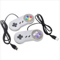 controlador ps2 para pc venda por atacado-Controlador de jogo de computador PC USB Super Renren SNES handle