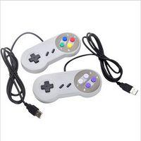 ps2 controller für pc großhandel-PC-Computerspiel-Controller USB Super Renren SNES-Griff