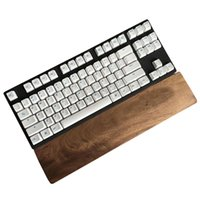 Wholesale Wooden Keyboards - Walnut Wooden Keyboard Wrist Support Anti-skid Laptop Pad For 60 Key