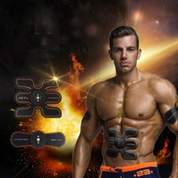 Wholesale electronic muscle belt resale online - Rechargeable Battery Gym Electronic Body Muscle Arm Waist Abdominal Exerciser Muscle Massaging Machine Viberating Slim Belt