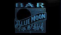 sinal de luz de néon da lua azul venda por atacado-LS1319-b- BAR Blue Moon Cerveja 3D LEVOU Sinal de Luz de Néon Personalizar sob Demanda 8 cores para escolher
