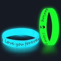 Wholesale customized unisex bracelets for sale - Group buy 2018 Customized glow in the dark silicone bracelets wristband for kids adult promotional gift sports band OTH648
