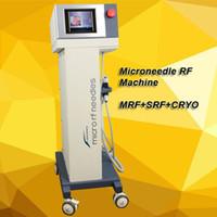 tratamiento de rodillo de piel al por mayor-Envío gratis fraccional rf dispositivo de estiramiento facial micro aguja kit de derma roller micro derma tratamiento de la piel Microneedle RF fraccional