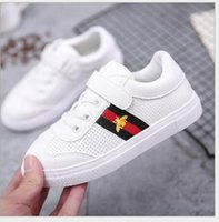 Wholesale bee board - 2018 xiao mi Spring and Autumn New Medium and Large Children Canvas Shoes Boys Little White Shoes Girls Little Bees Leisure Boards