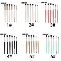 Wholesale pink kabuki - 6 Colors MAANGE 6PCS Makeup Eye Blending Brushes Women Makeup Tool Kits Kabuki Eye Shadow Brushes Makeup 3001322