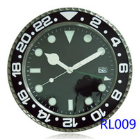 Wholesale green metal watch - Luminous wallclock Combination Separates Body Material Metal Luxury Brand Antique Digital Wall Clock Watch Type Black with Date & Luminova