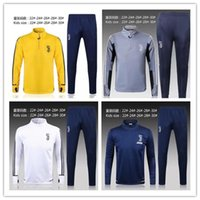 Wholesale Clothing Stops - Juv kids tracksuit yellow soccer training suit 17 18 Higuain Dybala Marchisio Pianic KIDS tracksuit Sportswear Set skinny jogging clothing