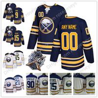 Wholesale black 26 - 2018 NEW Brand Custom Buffalo Sabres Hockey Jerseys Stitched Any Number Name Customized White Navy Blue 26 Rasmus Dahlin 15 Jack Eichel S-60