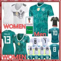 Wholesale soccer jersey germany - 2018 World Cup Germany home Soccer Jersey Thailand Germany OZIL KROOS HUMMELS Men WOMEN football shirt 18 19 Germany uniforms