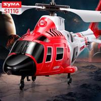 helicópteros rc de alta calidad al por mayor-Helicóptero RC de alta calidad SYMA S111G Marines de ataque mini helicóptero de simulación de infrarrojos de control fácil juguetes inastillables de aviones de control de regalo