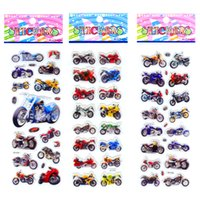 Wholesale puffy toys for sale - Group buy 100PCS Motorcycle Motorbike Auto Racing Scrapbooking Kawaii Emoji Reward Kids Toys Bubble Puffy Stickers Factory Direct Sales