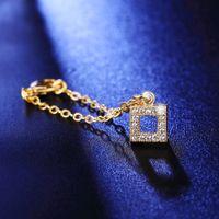 typ gold anhänger großhandel-Gold überzogene Uhrkette vier Art, vierblättriges Kleeblatt, Blume, rund, squre hängender fahsion Armbandcharme-Uhrkette heißer Verkauf YDHS272