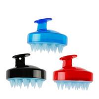 perda de cabelo venda por atacado-Lavagem de Cabelo cabeça Couro Cabeludo Shampoo Escova De Ar Pente Massageador Macio Escovas de Silicone Ferramenta de Cuidados de Limpeza Saudável Reduzir a Perda de Cabelo