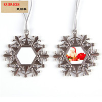 Fashion DIY Blank Sublimation Metal snowflake Round aeolian bells Christmas ornament For Heat Transfer press Machine decoration Gift 2018