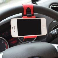 araba için bisiklet braketi toptan satış-Evrensel Araç Direksiyon Araç Telefonu Tutucu Standı GPS Navigasyon Sürücü Bisiklet Gidon Klip Montaj Bunt Braketi Süsler