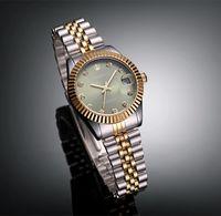 yeşil elbise saatleri toptan satış-Üst Marka TORBOLLO Altın Yeşil Dial Lover İzle Kuvars Tarihi Kristal Su Geçirmez Elbise İzle S924