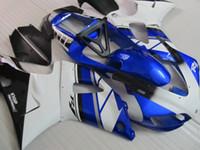 Wholesale 1999 yamaha r1 blue fairing kit for sale - Group buy High quality Fairing kit forYAMAHA YZF R1 white blue black fairings set YZF R1 SD47