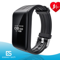 Wholesale Heart Rate Calorie Monitor - K1 Fitness Tracker Watch IP67 Waterproof Activity Continuous Heart Rate Monitor Step Calorie Bluetooth Wristband Bracelet Sports Smart Bands