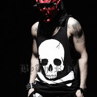 Wholesale wholesale famous brand clothes for sale - 2017 Famous Brand Streetwear Skull Print Coon Tank Top Men Hip Hop Clothing Rock Tank Tops Sportswear Undershirt