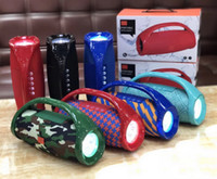 Wholesale card handle resale online - TG136 Bluetooth Speaker with LED Flash Light Handle Mini Protable Wireless Stereo Subwoofers Stereo Bass Sound Box Audio Super Bass MP3
