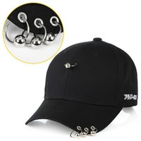 Wholesale kpop rings - 2PCS Hot Selling Bigbang unisex Ring Baseball Cap Solid Casual Casquette Fashion Kpop Iron Ring Ball Cotton Hats Adjustable Baseball Cap