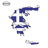 Wholesale flag car decals - Wholesale Vinyl Decals Car Stickers Glass Stickers Scratches Stickers Wall Die Cut Bumper Accessories Jdm Greece Silhouette Flag