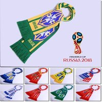 Wholesale France Souvenirs - Best quality SOCCER SCARF 2018 WORLD CUP SOUVENIR ENGLAND ARGENTINA SPAIN BRAZIL FRANCE Germany Italy Portugal