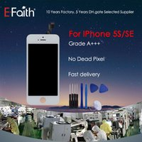 Wholesale iphone 5s front lcd - For iPhone 5S SE LCD Compatible Grade A+++ Complete White & Black LCD Screen Front Display Digitizer Assembly & Free Shipping