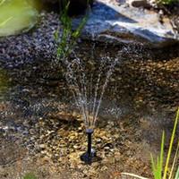 wasserpumpen klein großhandel-Heiße kleine Landschaftspool-Garten-Brunnen 7V Solarenergie-Brunnen-Wasser-Pumpen-Schwarzes