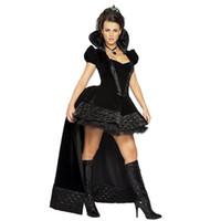 schwarze königin kostüm großhandel-Neue Smoking Kleid Uniformen Königin Schwarze Königin Hexe Kostüm Vampir Teufel Halloween Kostüm DS Kostüme Party Kleid 2017