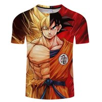 Wholesale dragon ball z frieza - Dragon Ball Z Men Summer T-shirts 3D Printing Super Saiyan Son Goku Vegeta Frieza Freeza Broli Cell Dragonball T Shirt Tee Tops