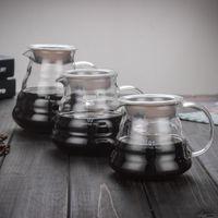 glasbehälter großhandel-New Drip Limited 1pc heißer Kaffee Dripper Style Server Wasserkocher 360ml 580ml 780ml Teekanne hitzebeständiges Glas Lager Ciq