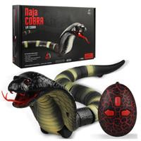 brinquedos de cobras venda por atacado-IR RC Animais Cascavel Cobra Centopéia Bionic Réptil 3CH Controle Remoto Infravermelho Chilopod Rattle Snake Tricky Brains Brinquedos