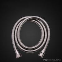 flexibles metall großhandel-2017 Top Qualität 2 mt Flexible Edelstahl Chrom Standard Duschkopf Badezimmer Schlauch Freies DHL XL-G272