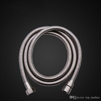 Wholesale flexible shower - 2017 Top Quality 2m Flexible Stainless Steel Chrome Standard Shower Head Bathroom Hose Pipe Free DHL XL-G272