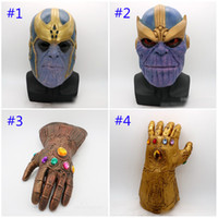 Wholesale cosplay toys - Avengers 3 Infinity War Thanos mask and gloves 2018 New Children's adult Halloween cosplay Natural latex Infinity Gauntlet Toys B