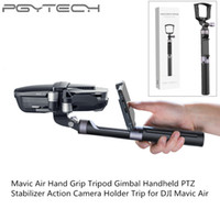 Wholesale air legs - PGYTECH Multifunction DJI Mavic Air Selfie Sticks Handheld Gimbal Stabilizer Holder Action Camera Tripod Legs Monopods Accessory