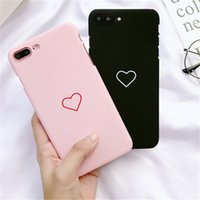 Wholesale Cute Casing - Fashion Simple Love Case Ultrathin Frosted Soft TPU Case Fashion Cute Back Cover Cases For iPhone X 8 7 6 6S Plus 5 5S SE