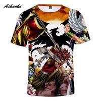 camisetas de anime cola de hada al por mayor-Aikooki Hombres Mujeres Fairy Tail Camisetas Hot Funny Anime Summer Pop Cool 3D imprimir Fairy Tail Tshirt Transpirable Camiseta Tops Hombres Camisetas