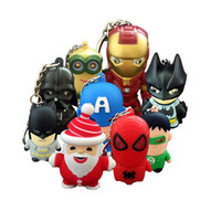 Wholesale keyring bulbs - Iron man LED Marvel keychain Torch with Carabiner Ring Keyrings Key Chains Sport Mini led flashlights keychain key ring
