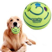 Wholesale plastic training balls for sale - Group buy Funny Ecofriendly Wobble Wag Giggle Ball Toy Dog Squeaker Play Training with Sound Make Dogs Happy Pet Supplies
