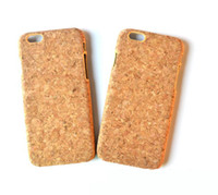 Wholesale wood cork case - Natural Wood Cork Phone Cover Case For iphone X 7 8 6 6s Plus Mobile Cell phone Case Custom Cork Wooden Case shock-proof For Iphone 7 8 6 10