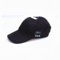 tablet için müzik hoparlörü toptan satış-Sıcak Satış Akıllı Telefon Tablet Kablosuz Spor Bluetooth Müzik Şapka 2-in-1 Eller-Serbest Kap Hoparlör Spor Beyzbol Şapkası Kulaklık
