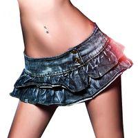 ingrosso gonne al ginocchio basso a matita-2018 Nightclub Girl's Super Sexy Vita bassa Sopra il ginocchio DS Pole Dancing Pencil Pantskirt Due strati Sexy Shorts Gonna di jeans